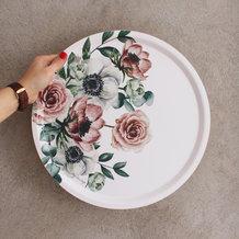 Bricka Floral rund 38 cm