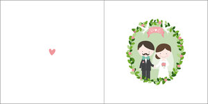 Bröllopskrans - dubbelt kort