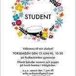 Studentkort Blomsterkrans