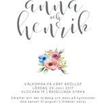 Namn kalligrafi floral