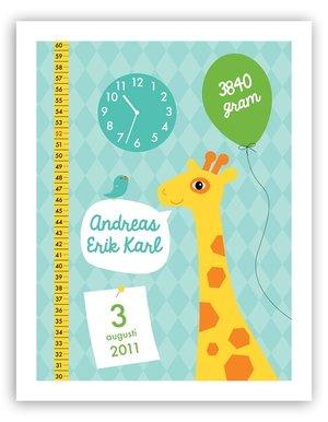 Födelsetavla - Giraff