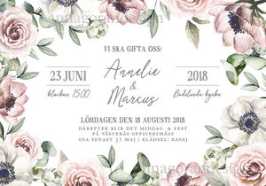 Rosa floral liggande_pastell