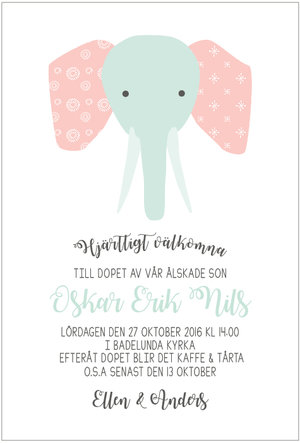 Elefant pastell