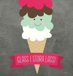 Glass i stora lass