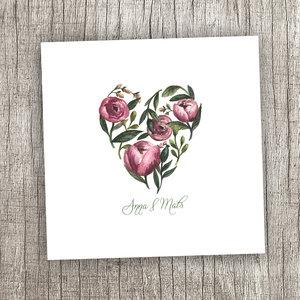 Floral heart - dubbelt kort