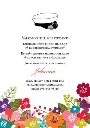 Studentkort Blomster