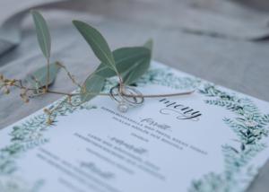 Grön krans inbjudan