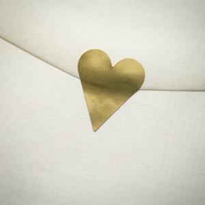 Etikett hjärta guld