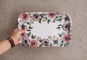 Bricka Floral 33x21 cm