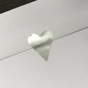 Etikett hjärta silver