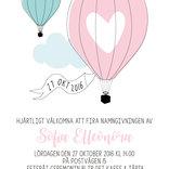 Luftballong inbjudan