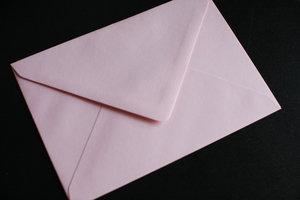 Kuvert C6 ljusrosa