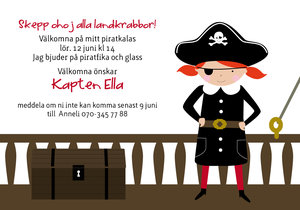 Kalasinbjudan - Pirat