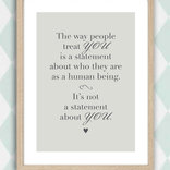 The way people...