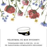 Studentkort Ängsblomster