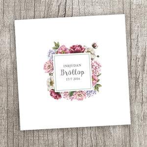 Blomsterram dubbelt kort