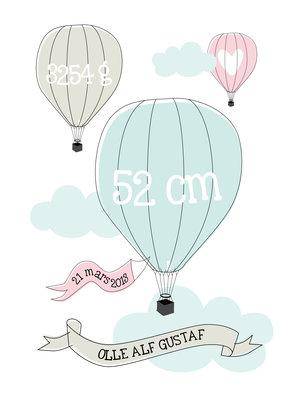 Luftballong - doptavla