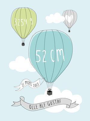 Luftballong - pastell